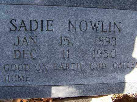 "NOWLIN, SARAH ""SADIE"" - Lawrence County, Arkansas 