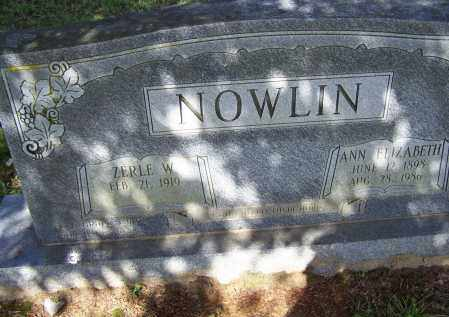 NOWLIN, ZERLE WINSTON - Lawrence County, Arkansas | ZERLE WINSTON NOWLIN - Arkansas Gravestone Photos