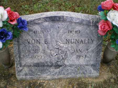 NUNALLY, VON BRUCE - Lawrence County, Arkansas | VON BRUCE NUNALLY - Arkansas Gravestone Photos