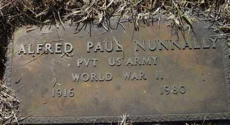 NUNNALLY (VETERAN WWII), ALFRED PAUL - Lawrence County, Arkansas | ALFRED PAUL NUNNALLY (VETERAN WWII) - Arkansas Gravestone Photos
