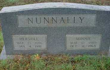 NUNNALLY, HERSHEL VERNON - Lawrence County, Arkansas | HERSHEL VERNON NUNNALLY - Arkansas Gravestone Photos