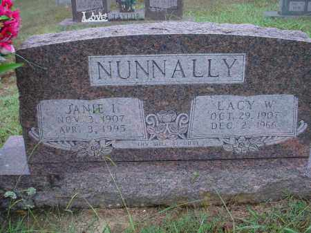 CHAPPELL NUNNALLY, JANIE INEZ - Lawrence County, Arkansas | JANIE INEZ CHAPPELL NUNNALLY - Arkansas Gravestone Photos