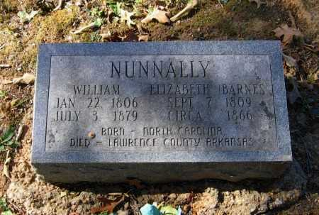 NUNNALLY, WILLIAM - Lawrence County, Arkansas | WILLIAM NUNNALLY - Arkansas Gravestone Photos