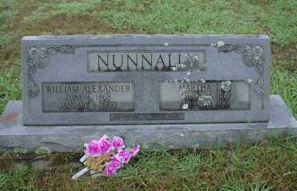 NUNNALLY, WILLIAM ALEXANDER - Lawrence County, Arkansas | WILLIAM ALEXANDER NUNNALLY - Arkansas Gravestone Photos