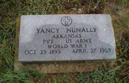 NUNALLY (VETERAN WWI), YANCY ASTOR - Lawrence County, Arkansas | YANCY ASTOR NUNALLY (VETERAN WWI) - Arkansas Gravestone Photos