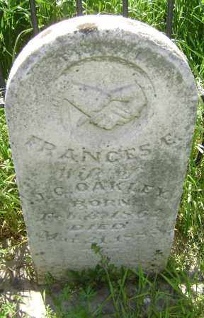 OAKLEY, FRANCES E. - Lawrence County, Arkansas | FRANCES E. OAKLEY - Arkansas Gravestone Photos