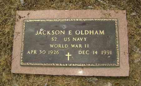 OLDHAM  (VETERAN WWII), JACKSON EVERETTE - Lawrence County, Arkansas | JACKSON EVERETTE OLDHAM  (VETERAN WWII) - Arkansas Gravestone Photos