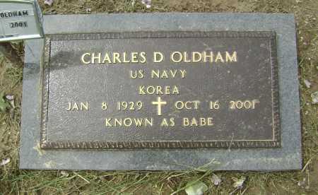"OLDHAM (VETERAN KOR), CHARLES D. ""BABE"" - Lawrence County, Arkansas | CHARLES D. ""BABE"" OLDHAM (VETERAN KOR) - Arkansas Gravestone Photos"