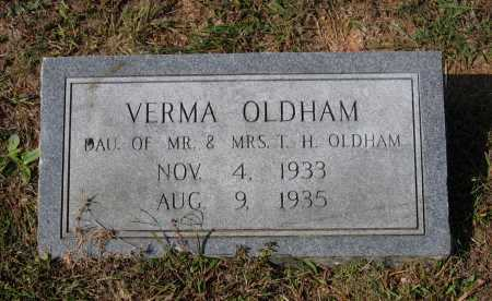 OLDHAM, VERMA - Lawrence County, Arkansas | VERMA OLDHAM - Arkansas Gravestone Photos