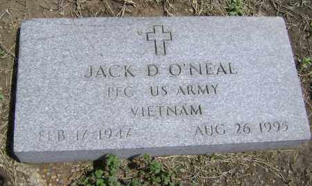 O'NEAL  (VETERAN VIET), JACK D. - Lawrence County, Arkansas | JACK D. O'NEAL  (VETERAN VIET) - Arkansas Gravestone Photos