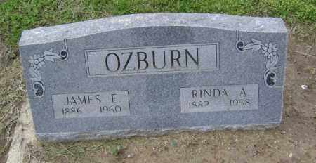 OZBURN, JAMES E. - Lawrence County, Arkansas | JAMES E. OZBURN - Arkansas Gravestone Photos