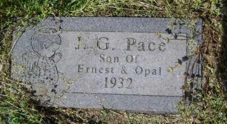 PACE, J. G. - Lawrence County, Arkansas | J. G. PACE - Arkansas Gravestone Photos