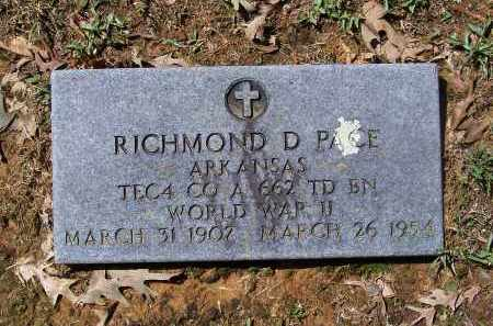 PACE (VETERAN WWII), RICHMOND D. - Lawrence County, Arkansas | RICHMOND D. PACE (VETERAN WWII) - Arkansas Gravestone Photos