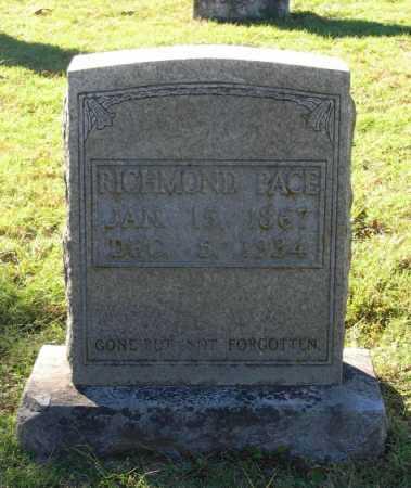 PACE, RICHMOND - Lawrence County, Arkansas | RICHMOND PACE - Arkansas Gravestone Photos