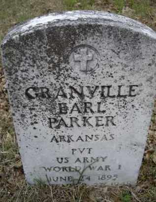 PARKER (VETERAN WWI), GRANVILLE EARL - Lawrence County, Arkansas | GRANVILLE EARL PARKER (VETERAN WWI) - Arkansas Gravestone Photos