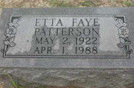 PATTERSON, ETTA FAYE - Lawrence County, Arkansas | ETTA FAYE PATTERSON - Arkansas Gravestone Photos