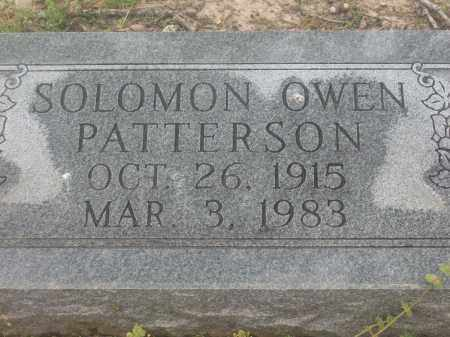 PATTERSON, SOLOMON OWEN - Lawrence County, Arkansas | SOLOMON OWEN PATTERSON - Arkansas Gravestone Photos