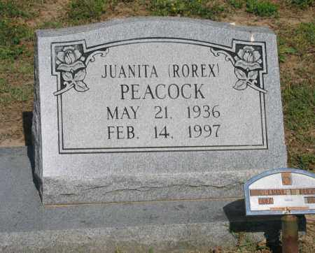 ROREX PEACOCK, JUANITA - Lawrence County, Arkansas | JUANITA ROREX PEACOCK - Arkansas Gravestone Photos