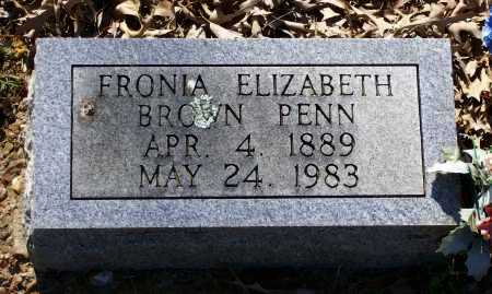 "BROWN PENN, SOPHRONIA ELIZABETH ""FRONIA"" - Lawrence County, Arkansas 