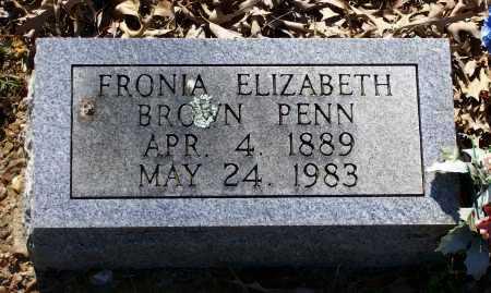 "PENN, SOPHRONIA ELIZABETH ""FRONIA"" - Lawrence County, Arkansas | SOPHRONIA ELIZABETH ""FRONIA"" PENN - Arkansas Gravestone Photos"