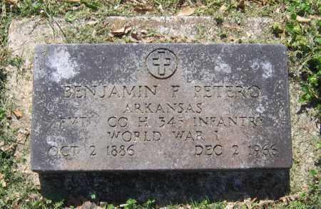 PETERO (VETERAN WWI), BENJAMIN F. - Lawrence County, Arkansas | BENJAMIN F. PETERO (VETERAN WWI) - Arkansas Gravestone Photos