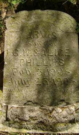 PHILLIPS, ARVIS - Lawrence County, Arkansas | ARVIS PHILLIPS - Arkansas Gravestone Photos
