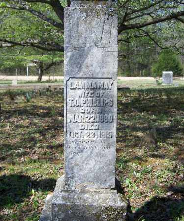 WAYLAND PHILLIPS, LAMMA MAY - Lawrence County, Arkansas | LAMMA MAY WAYLAND PHILLIPS - Arkansas Gravestone Photos