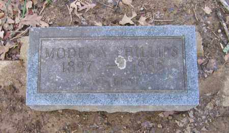 PHILLIPS, MODENA - Lawrence County, Arkansas | MODENA PHILLIPS - Arkansas Gravestone Photos