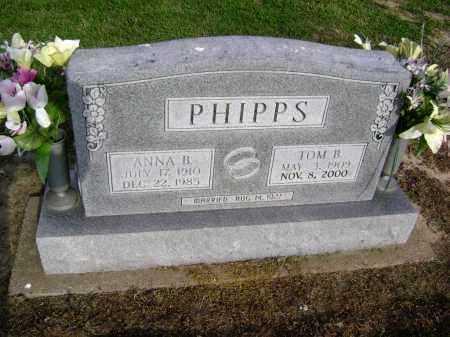 PHIPPS, TOM B. - Lawrence County, Arkansas | TOM B. PHIPPS - Arkansas Gravestone Photos