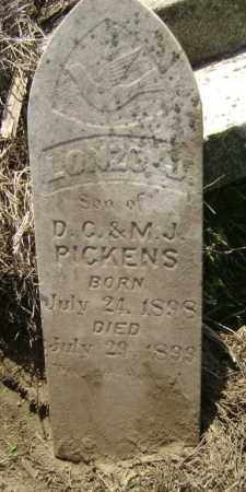 PICKENS, LONZO J. - Lawrence County, Arkansas | LONZO J. PICKENS - Arkansas Gravestone Photos