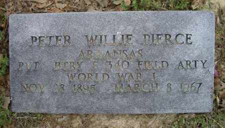 PIERCE (VETERAN WWI), PETER WILLIE - Lawrence County, Arkansas | PETER WILLIE PIERCE (VETERAN WWI) - Arkansas Gravestone Photos