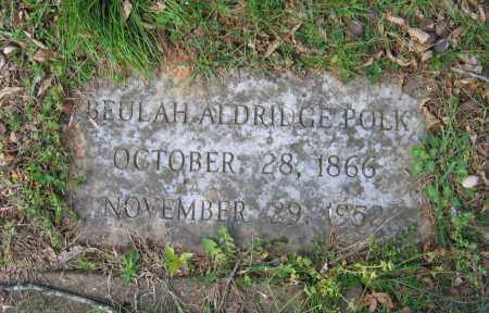 ALDRIDGE POLK, BEULAH FLORENCE - Lawrence County, Arkansas | BEULAH FLORENCE ALDRIDGE POLK - Arkansas Gravestone Photos