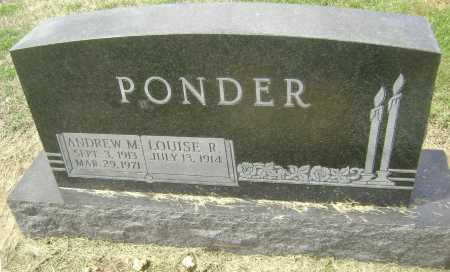 "PONDER, ANDREW MONTGOMERY ""ANDY"" - Lawrence County, Arkansas 