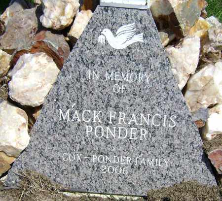 PONDER, MACK FRANCIS - Lawrence County, Arkansas | MACK FRANCIS PONDER - Arkansas Gravestone Photos