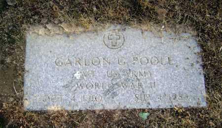 POOLE  (VETERAN WWII), GARLON G. - Lawrence County, Arkansas | GARLON G. POOLE  (VETERAN WWII) - Arkansas Gravestone Photos