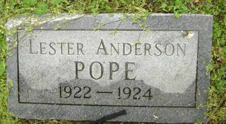 POPE, LESTER ANDERSON - Lawrence County, Arkansas | LESTER ANDERSON POPE - Arkansas Gravestone Photos