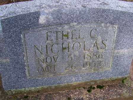 NICHOLAS, ETHEL G. REX PORTER - Lawrence County, Arkansas | ETHEL G. REX PORTER NICHOLAS - Arkansas Gravestone Photos