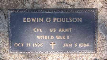POULSON (VETERAN WWI), EDWIN OSCAR - Lawrence County, Arkansas | EDWIN OSCAR POULSON (VETERAN WWI) - Arkansas Gravestone Photos