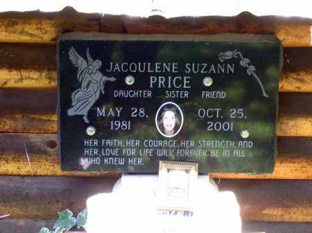 PRICE (1), JACQULENE SUZANNE - Lawrence County, Arkansas | JACQULENE SUZANNE PRICE (1) - Arkansas Gravestone Photos