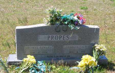 SMITH PROPES, GEORGIA ALMA - Lawrence County, Arkansas | GEORGIA ALMA SMITH PROPES - Arkansas Gravestone Photos
