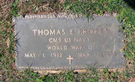 PROPES (VETERAN WWII), THOMAS EDWARD - Lawrence County, Arkansas | THOMAS EDWARD PROPES (VETERAN WWII) - Arkansas Gravestone Photos