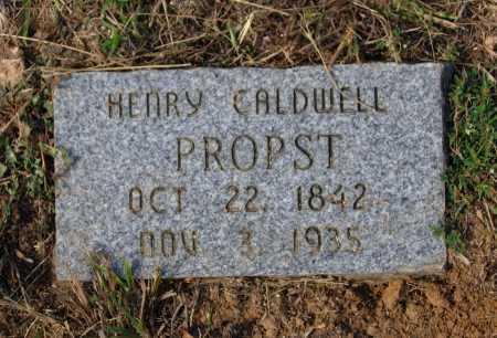 PROPST (VETERAN CSA), HENRY CALDWELL - Lawrence County, Arkansas | HENRY CALDWELL PROPST (VETERAN CSA) - Arkansas Gravestone Photos