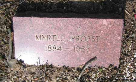 KIDDER PROPST, MYRTLE ALMA - Lawrence County, Arkansas | MYRTLE ALMA KIDDER PROPST - Arkansas Gravestone Photos