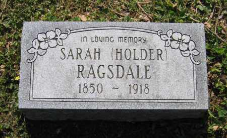 HOLDER RAGSDALE, SARAH ANN - Lawrence County, Arkansas | SARAH ANN HOLDER RAGSDALE - Arkansas Gravestone Photos