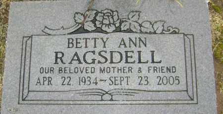 RAGSDELL, BETTY ANN - Lawrence County, Arkansas | BETTY ANN RAGSDELL - Arkansas Gravestone Photos