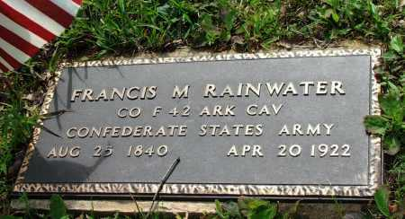 RAINWATER (VETERAN CSA), FRANCIS MARION - Lawrence County, Arkansas | FRANCIS MARION RAINWATER (VETERAN CSA) - Arkansas Gravestone Photos