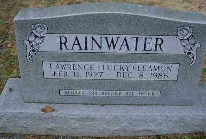 "RAINWATER, LAWRENCE LEAMON ""LUCKY"" - Lawrence County, Arkansas | LAWRENCE LEAMON ""LUCKY"" RAINWATER - Arkansas Gravestone Photos"