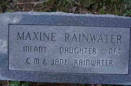 RAINWATER, MAXINE - Lawrence County, Arkansas | MAXINE RAINWATER - Arkansas Gravestone Photos