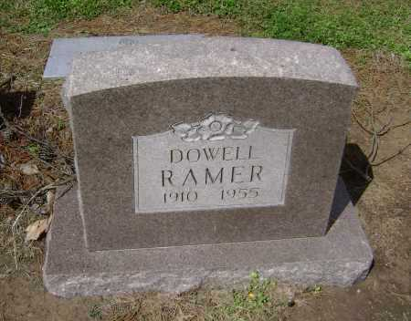 RAMER, DOWELL - Lawrence County, Arkansas | DOWELL RAMER - Arkansas Gravestone Photos