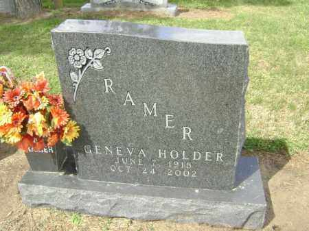 HOLDER RAMER, GENEVA - Lawrence County, Arkansas | GENEVA HOLDER RAMER - Arkansas Gravestone Photos